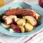 Roast Sausages with Apples and Parsnips {+ a giveaway}