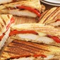 Yogurt Marinated Grilled Chicken & Red Pepper Panini