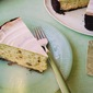 Pistachio and White Chocolate Cheesecake