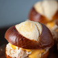 Beer Cheese Chicken Pretzel Sliders