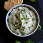 White Bean & Basil Hummus Recipe {Nut-Free}