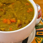 Slow Cooker Split Pea Soup with Chicken Sausage and Carrots (Gluten-Free)
