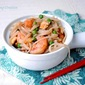 Busy Weeknight Shrimp & Rice Noodle Stir Fry with Peas