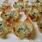 Spinach and Bacon Wontons