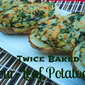 Twice Baked Four Leaf Potatoes for St. Paddy's