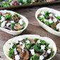 Roasted Mushroom, Kale, and Goat Cheese Tacos