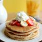 Strawberry Banana Pancakes #OXOCookware