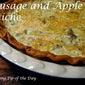 Sausage and Apple Quiche