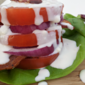 BLT Stacks with Buttermilk Bleu Cheese Dressing