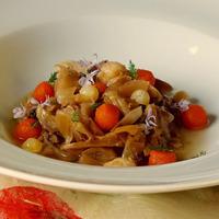 zuppetta di zucca e verza con Ubaldino in doppia cottura