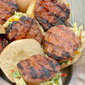 Sweet and Sour Pork Burgers w/ Pineapple Slaw #GrillPorkSweeps