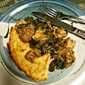 Braised Chicken and Tuscan Kale over Baked Polenta