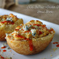 Mini Buffalo Chicken Dip Bread Bowls