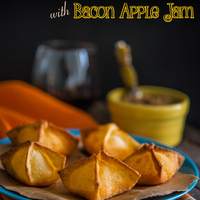 Pimento Cheese Wontons with Bacon Apple Jam