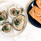 Oysters with a cava, shallot, lemon and basil vinaigrette and an introduction to The Sustainable Seafood Blog Project.