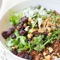Baby Greens with Quinoa Salad and Honey Balsamic Vinaigrette