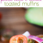 Pickled Onion Avocado Toasted Muffins