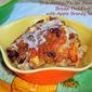 Cranberry-Pecan Panettone Bread Pudding with Apple Brandy Sauce...Featuring Bauli Panettone di Milano