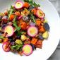 Rainbow Potato Salad w/ Bacon & Kale