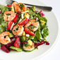 Seared Shrimp Salad with Jicama, Strawberries & Avocado