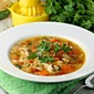 Savory Herb Chicken and Rice Soup