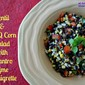 Lentil & BBQ Corn Salad with Cilantro Lime Vinaigrette