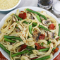 Linguine or Fettuccine with Asparagus and Portabella Mushrooms