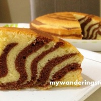 Making Zebra Pound Cake and Tips to Remove Your Cake from Round Pan