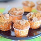Eggless Banana muffins with streusal topping - easy Baking recipes