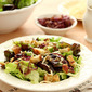 Mixed Greens Salad with Smoked Mozzarella and a Warm Roasted Garlic Dressing