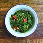 Stir Fried Spicy Water Spinach (Goreng Kangkung)