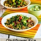 Cauliflower Rice and Pinto Bean Vegan Burrito Bowl (Gluten-Free, Can be Low-Carb)