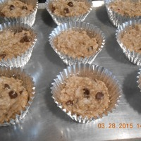 Easy Breakfast Oatmeal Muffins w/ Chocolate chips and Coconut