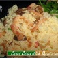 Cous cous with meatload_Spicy Squid Salad