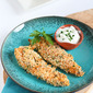 Baked Hummus Crusted Chicken Tenders Recipe