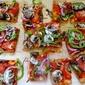 Vegetarian Flatbread Pizza with Baby Bello Mushrooms