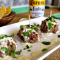 Cheese Stuffed Meatballs with Salsa Verde Mayo