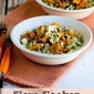 Slow Cooker Buffalo Chicken Cauliflower Rice Bowl (Low-Carb, Gluten-Free)