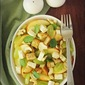 Goan Made Cheese And An Apple, Grape & Camembert Salad With Garlic Croutons