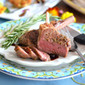 Rosemary Garlic Crusted Lamb Chops with Balsamic Reduction