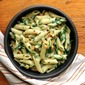 Creamy Spinach and Corn Pasta in Whole Wheat White Sauce