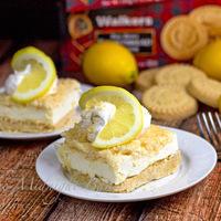 No-Bake Lemon Shortbread Cheesecake