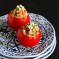 Greek Quinoa & Hummus Stuffed Tomatoes