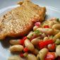 Fried Pork Chops & White Bean Salad