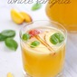 Peach and basil white sangria