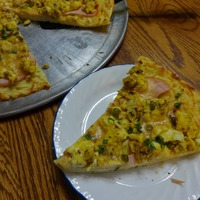 Canadian Bacon Brunch Pizza