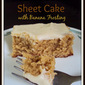 Peanut Butter Sheet Cake with Banana Frosting Recipe