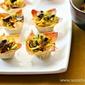 Indian Spiced Cabbage Mushroom Wonton Bites