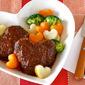 How to Make Heart-Shaped Simmered Hamburger Steak - Video Recipe