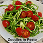 Zoodles in Vegan Pesto Sauce